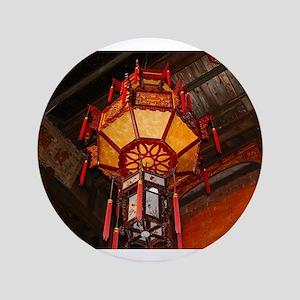 "Lantern, Daxu Old Village, China 3.5"" Button"