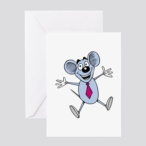 Mouse Excited Greeting Cards