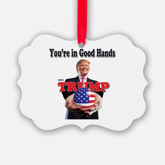 Trump - Good Hands Ornament