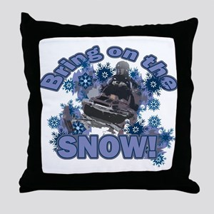 Bring On The Snow Throw Pillow