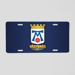 Vasteras Aluminum License Plate