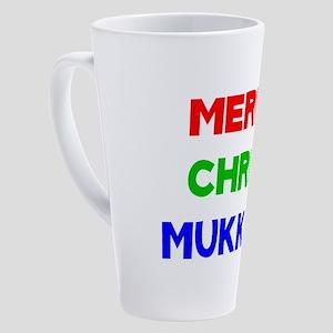 Merry Chrismukkah 17 oz Latte Mug