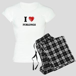 I love Furlongs Women's Light Pajamas