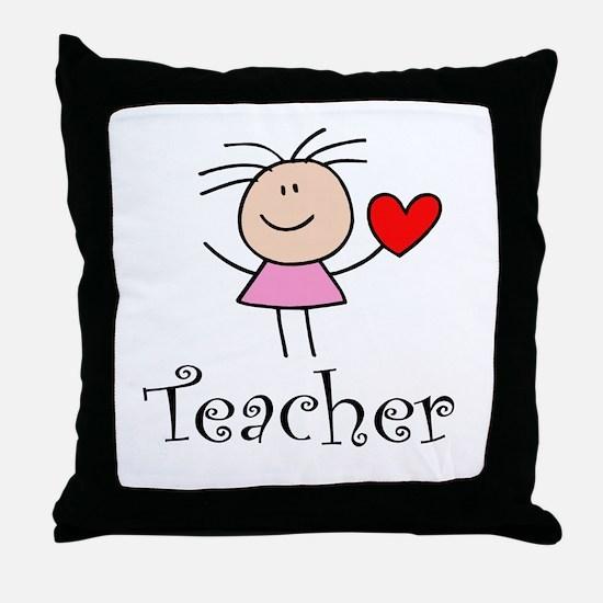 Cute TEACHER Throw Pillow