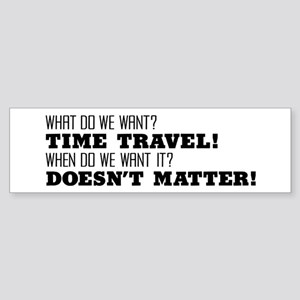 Time Travel Bumper Sticker