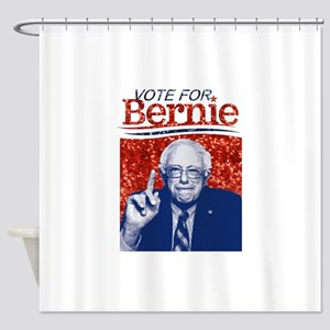 sequin vote for bernie sanders Shower Curtain
