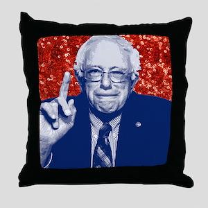 sequin vote for bernie sanders Throw Pillow