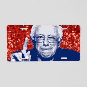 sequin vote for bernie sand Aluminum License Plate