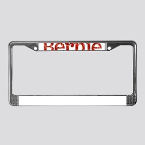 sequin vote for bernie sanders License Plate Frame
