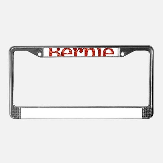 sequin vote for bernie sanders License Plate Frame