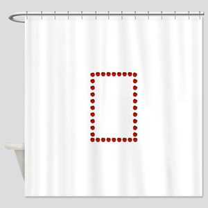 Strawberry border Shower Curtain