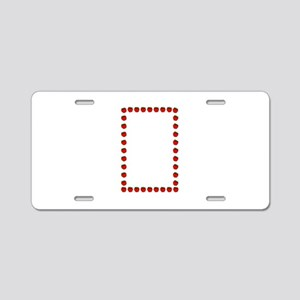 Strawberry border Aluminum License Plate