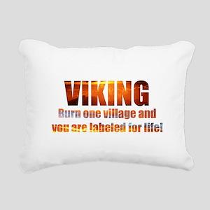 Viking- Burn One Village Rectangular Canvas Pillow