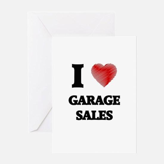 I love Garage Sales Greeting Cards