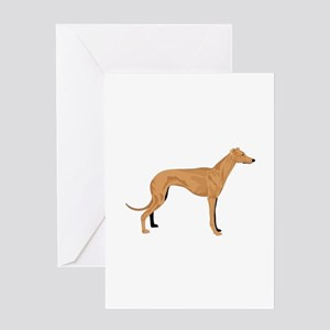 Grey hound Greeting Cards