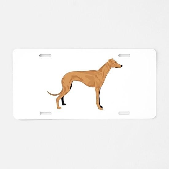 Grey hound Aluminum License Plate