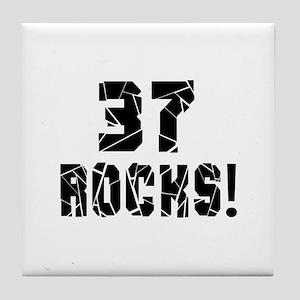 37 Rocks Birthday Designs Tile Coaster
