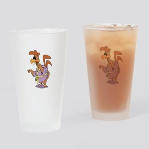 Rooster Sick Drinking Glass