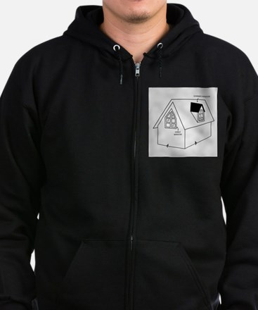 Cute Construction and real estate profession Zip Hoodie (dark)