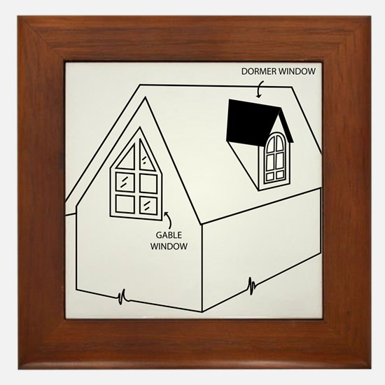 Cute Construction and real estate profession Framed Tile