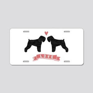 Black Russian Terriers Aluminum License Plate