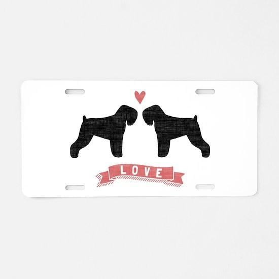 Black Russian Terriers Aluminum License Plate