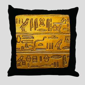 Hieroglyphs20160334 Throw Pillow
