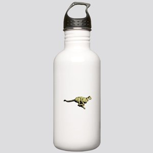 Yellow Cheetah with bl Stainless Water Bottle 1.0L