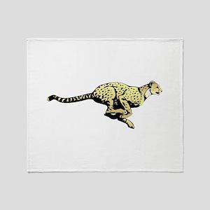 Yellow Cheetah with black dots Throw Blanket