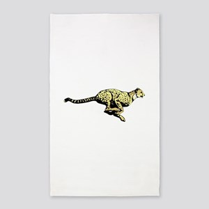 Yellow Cheetah with black dots Area Rug