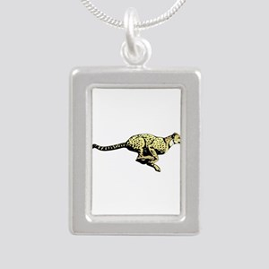 Yellow Cheetah with black dots Necklaces