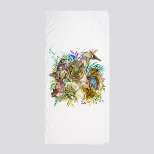 Dinosaur Collage Beach Towel