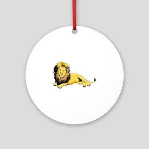 Yellow leon Round Ornament