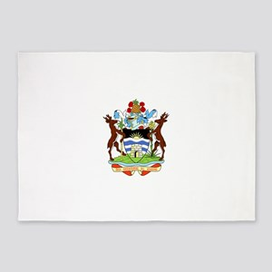 Coat Of Arms Of Antigua And Barbuda 5'x7'Area Rug