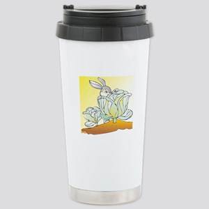 Rabbit and Cabbage Stainless Steel Travel Mug