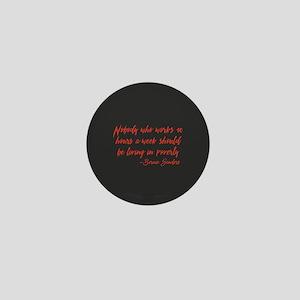 40 Hours Poverty Mini Button