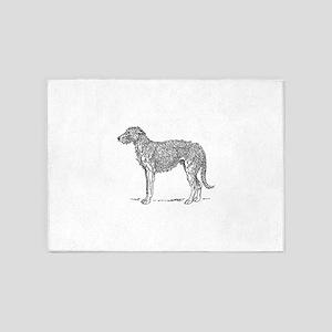 Deerhound 5'x7'Area Rug