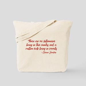 Children in Poverty Tote Bag