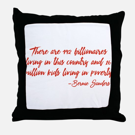 Children in Poverty Throw Pillow