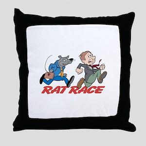 Rat Race Throw Pillow