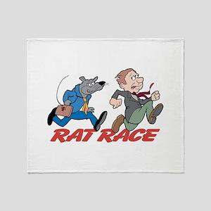 Rat Race Throw Blanket