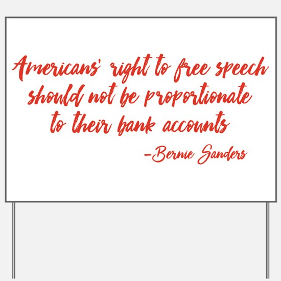 Freedom of Speech Yard Sign