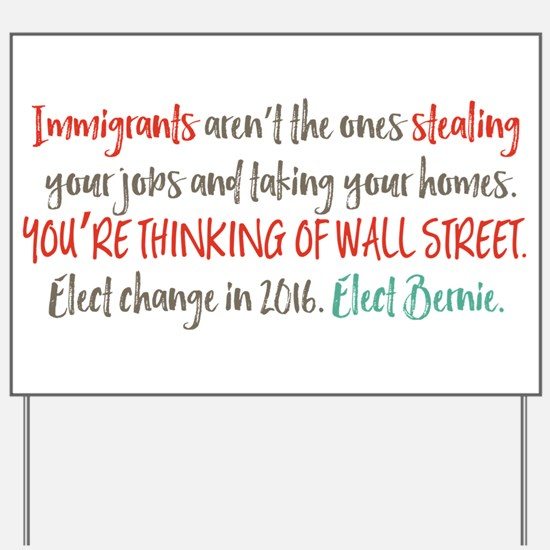 Wall Street Thieves Yard Sign