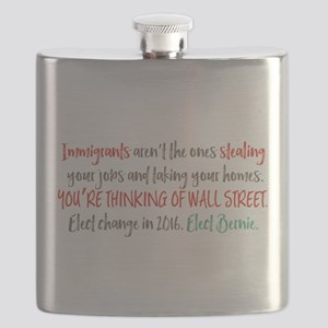 Wall Street Thieves Flask