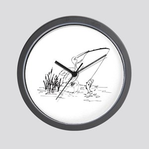 Pelican Fishing Wall Clock