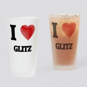 I love Glitz Drinking Glass