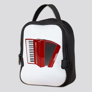 Red color Accordion Neoprene Lunch Bag
