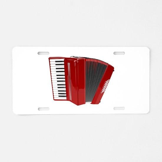 Red color Accordion Aluminum License Plate