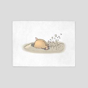 Hamster Digging 5'x7'Area Rug