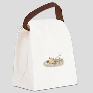 Hamster Digging Canvas Lunch Bag